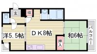 サンシャトー三宮[203号室]の間取り