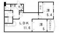 二宮ロイヤルハイツⅡ[4F号室]の間取り