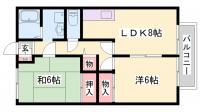 プランドールMITANI[2階]の間取り