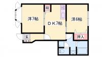 ソレイユ東山Ⅱ[102号室]の間取り