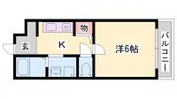 土山中村コーポⅡ[203号室]の間取り