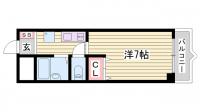 メゾンピアYUKYU[406号室]の間取り