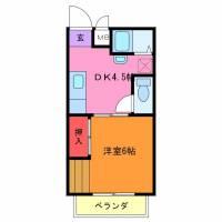 茨城県龍ケ崎市の賃貸アパートの間取り