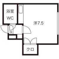 シャトレ麻生[3階]の間取り