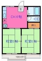 関ハイツDE棟[E202号室]の間取り