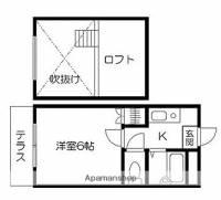 Sコーポ島崎[1階]の間取り