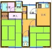 [一戸建] 愛媛県新居浜市河内町6-3 の賃貸【愛媛県 / 新居浜市】の間取り