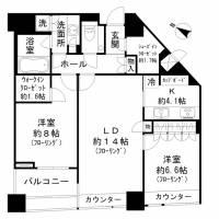パークコート赤坂 ザ タワー[32階]の間取り