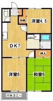 ジョイハウス金明町[2階]の間取り