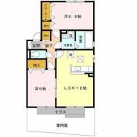 ファミール田井城 B棟[2階]の間取り