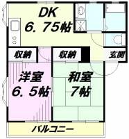 デュエットⅠ[1階]の間取り