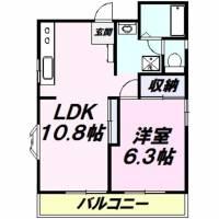 新狭山ハウスKM[2階]の間取り