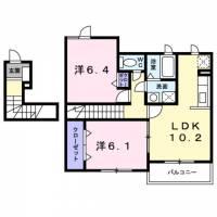奈良県橿原市出合町の賃貸アパートの間取り