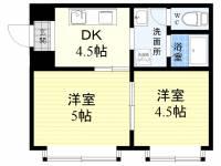 前田住宅ビル[3階]の間取り