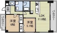 愛知県名古屋市西区鳥見町1丁目の賃貸マンションの間取り