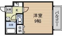 愛知県名古屋市西区市場木町の賃貸アパートの間取り