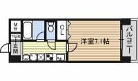 愛知県名古屋市西区天塚町1丁目の賃貸マンションの間取り