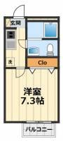 東京都日野市南平8丁目の賃貸アパートの間取り