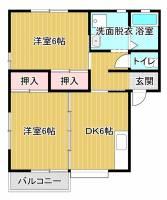 ハウスプラネットA[2階]の間取り