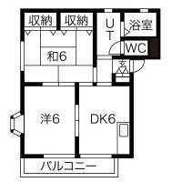 サンピュア ハピネスA[2階]の間取り