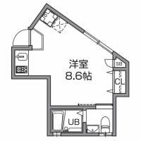 東京都世田谷区野沢3丁目の賃貸アパートの間取り