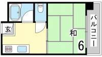 サンハイツヤナガワ[5C号室]の間取り