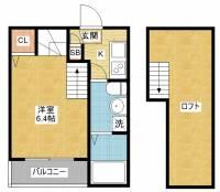K&K Dream今池[2階]の間取り