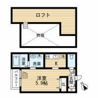 カーサ箱崎[203号室]の間取り