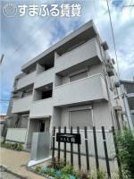 愛知県岡崎市明大寺町字馬場東の賃貸アパートの外観
