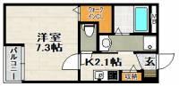 兵庫県伊丹市荒牧南4丁目の賃貸アパートの間取り