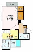 仮称)藤が丘新築アパートメント[101号室]の間取り