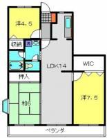 プラムハイツ丸山台[2階]の間取り