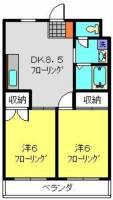 楓マンション[202号室]の間取り