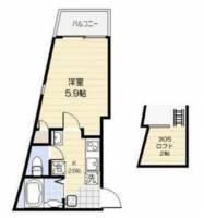 東京都練馬区北町5丁目の賃貸アパートの間取り