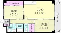 シャトル永井[3階]の間取り