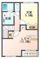 クレセナ鎌倉[2階]の間取り