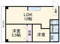 第5菊屋ビル[2A号室]の間取り
