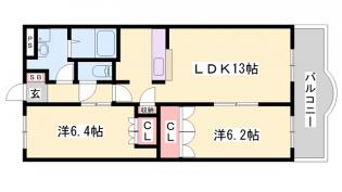エレガントシティ[2階]の間取り