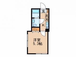 東京都大田区萩中3丁目の賃貸アパートの間取り
