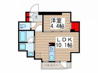 ディームス入谷1[11階]の間取り