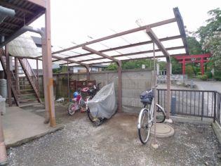 関根ハイツの駐輪場