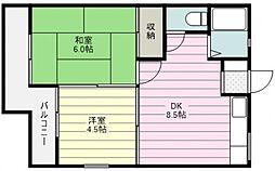 セレーノ三芳[203号室号室]の間取り