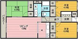 山崎第6ビル[308号室号室]の間取り