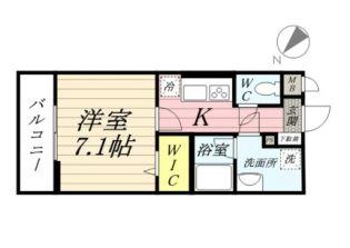 東京都羽村市緑ヶ丘1丁目の賃貸アパートの間取り