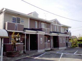 愛知県西尾市上矢田町郷前の賃貸アパートの外観