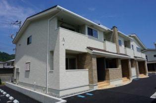 徳島県鳴門市撫養町黒崎字清水の賃貸アパートの外観