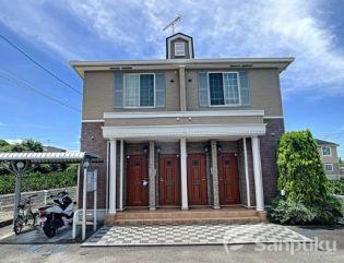 愛媛県松山市北吉田町の賃貸アパートの外観