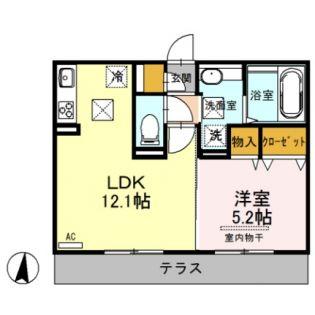 熊本県合志市須屋の賃貸アパートの間取り