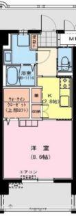 カタリナアパートメント[206号室]の間取り