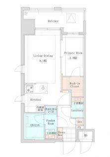 LANDIC STUDIO博多[3階]の間取り